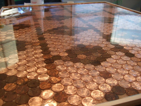 How To Make A Unique Kitchen Backsplash With Pennies