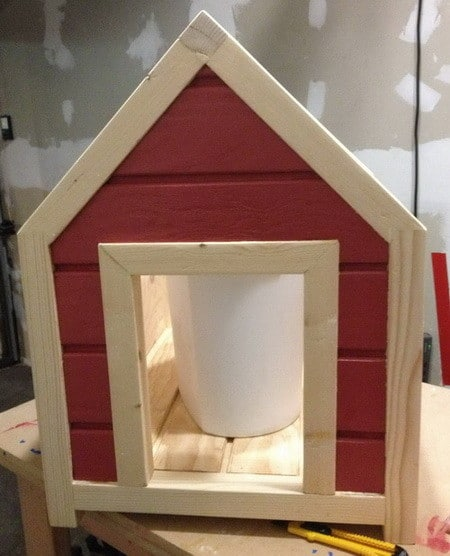 how to build a 2 dog dog house