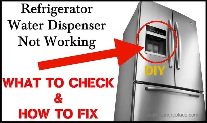 Kitchenaid Refrigerator Interior Water Dispenser Not