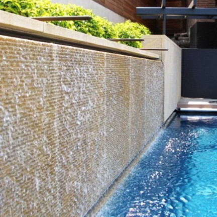 30 Relaxing Water Wall Ideas For Your Backyard or Indoor ... on Backyard Feature Walls  id=86713