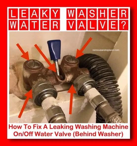 water valve behind washer