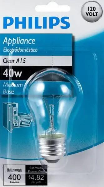 Replacement Light Bulb Refrigerator