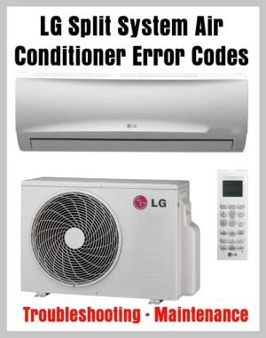 LG Split System Air Conditioner Error Codes  Troubleshooting  Maintenance | RemoveandReplace