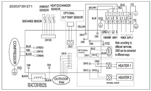 blue star split ac circuit diagram single phase split ac wiring diagram