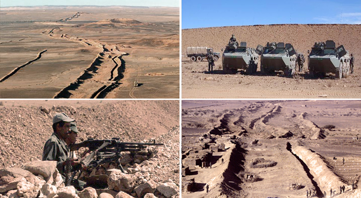 The Moroccan Wall in Western Sahara is the greatest functional military barrier in the world.