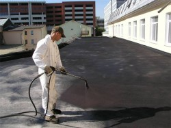 Sprayed waterproofing