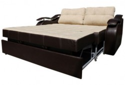 Sofa bed with roll-out type transformation mechanism