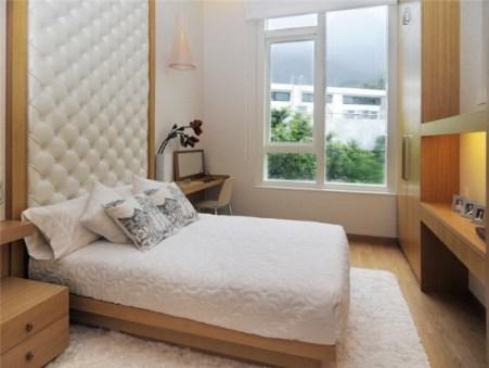 design of a small bedroom headboard