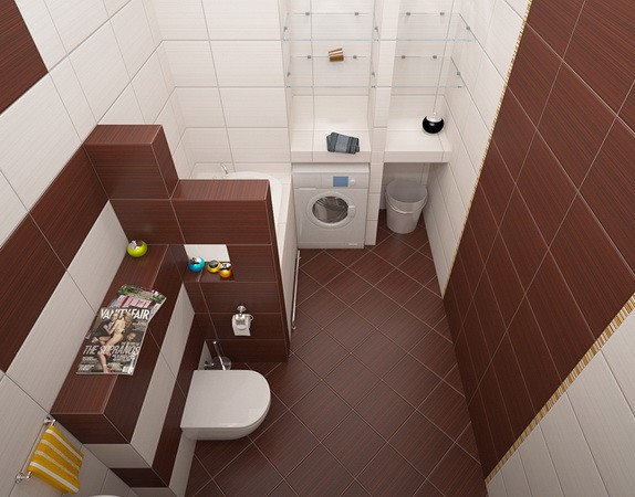 small bathroom tiles diagonally