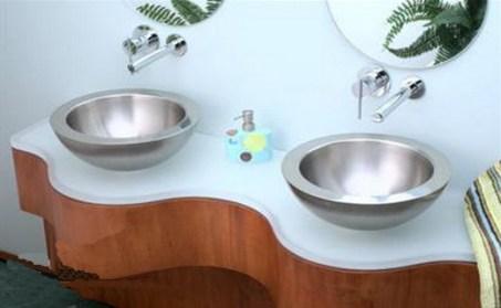 steel bathroom sink