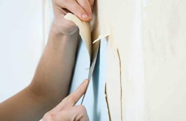 Bagaimana cara menghapus wallpaper dengan drywall?