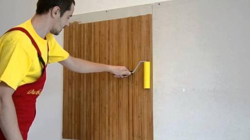 bamboo wallpaper gluing 2
