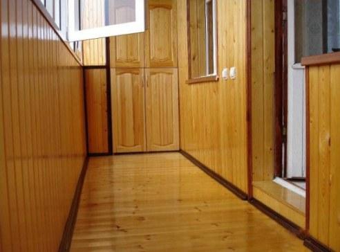 wooden floor on the balcony