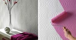non-woven textured wallpaper