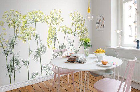 wallpaper in the kitchen style 2