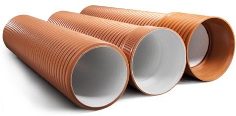 PVC external sewer pipes