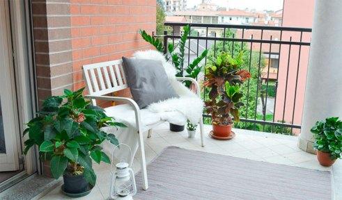ceramic tiles on the balcony