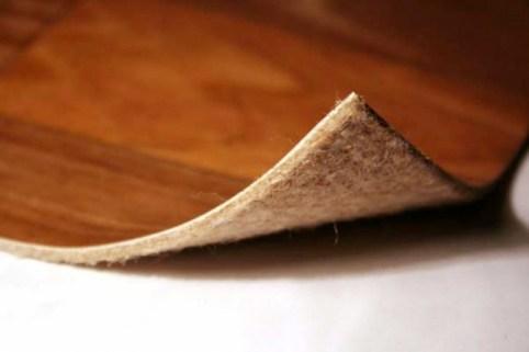 linoleum on a fabric basis