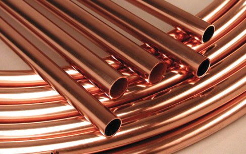 copper pipes for water underfloor heating