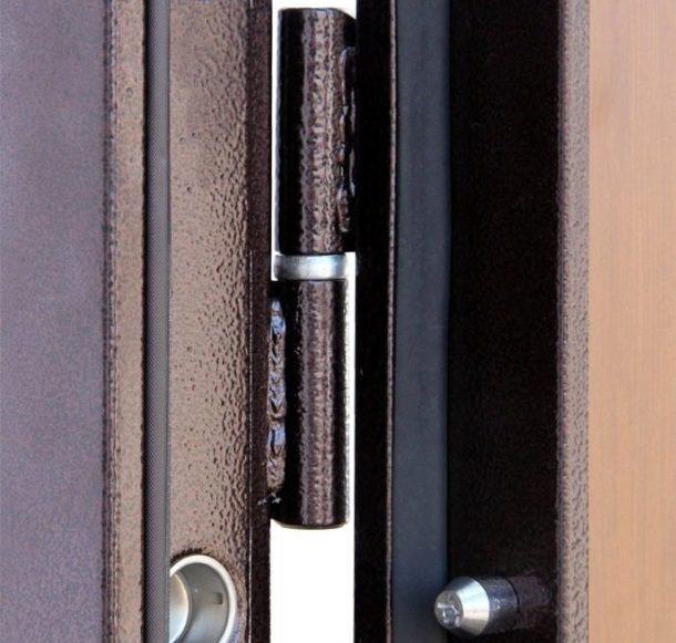 Металл кіреберіс есігінің ашық ілмектері