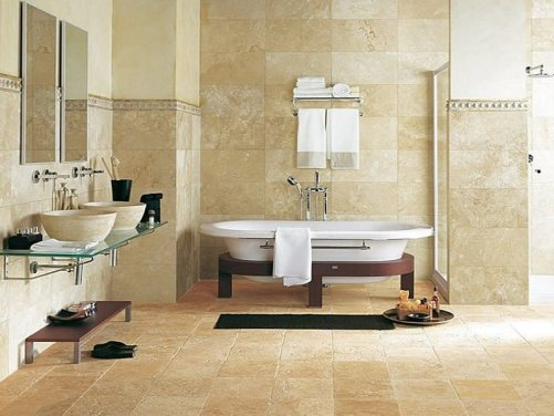 natural stone for finishing the bathroom floor