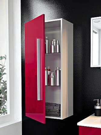 wall cabinet in the bathroom chipboard