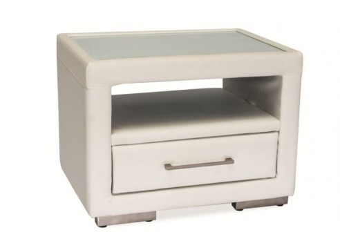 bedside table leather
