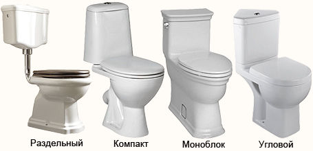 toilets by type of installation
