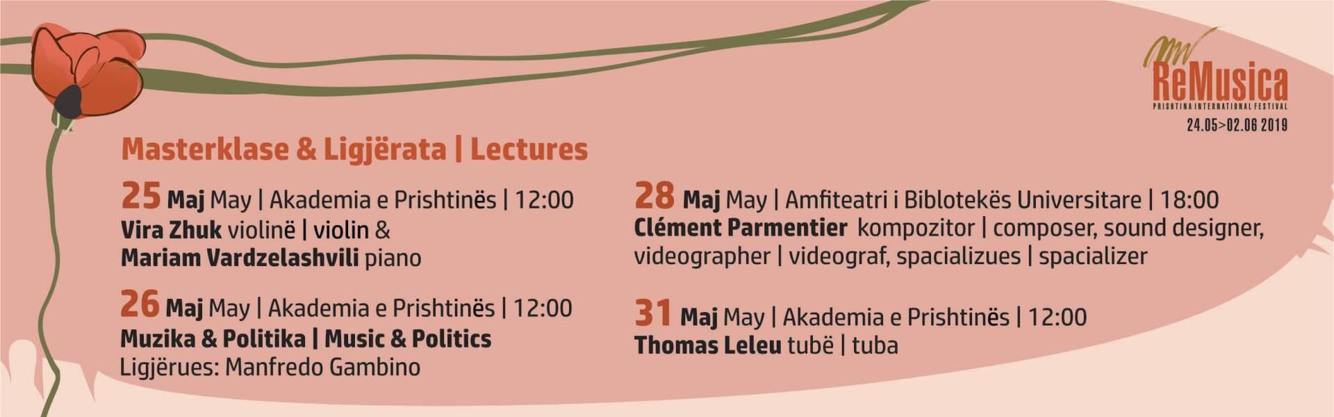 Masterklase & Ligjërata/Lectures