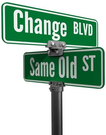 At the corner of Same Old and Change
