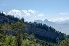 Bergsturzgelände und Mythenblick