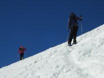 Steiler Aufstieg zum Gipfelplateau