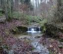 Der erste von vielen kleinen Wasserfällen.