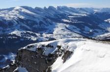 Omnipräsente Churfirsten mit dem Skigebiet Wildhaus/Unterwasser/Alt St. Johann - dort war heute der Teufel los!