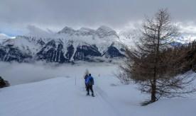 In der Bildmitte Piz Lischana 3105 m und Val Lischana