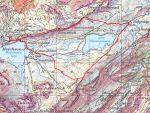 Die Route (die rosa eingefärbten Stellen sind >30° steil)