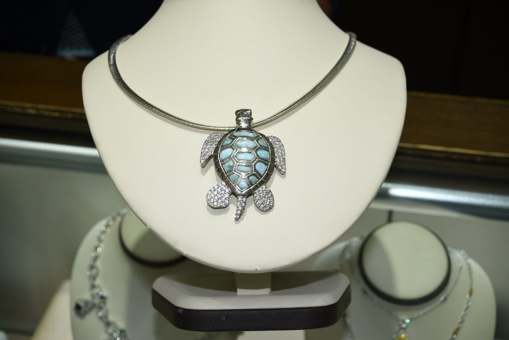 Larimar Turtle Necklace