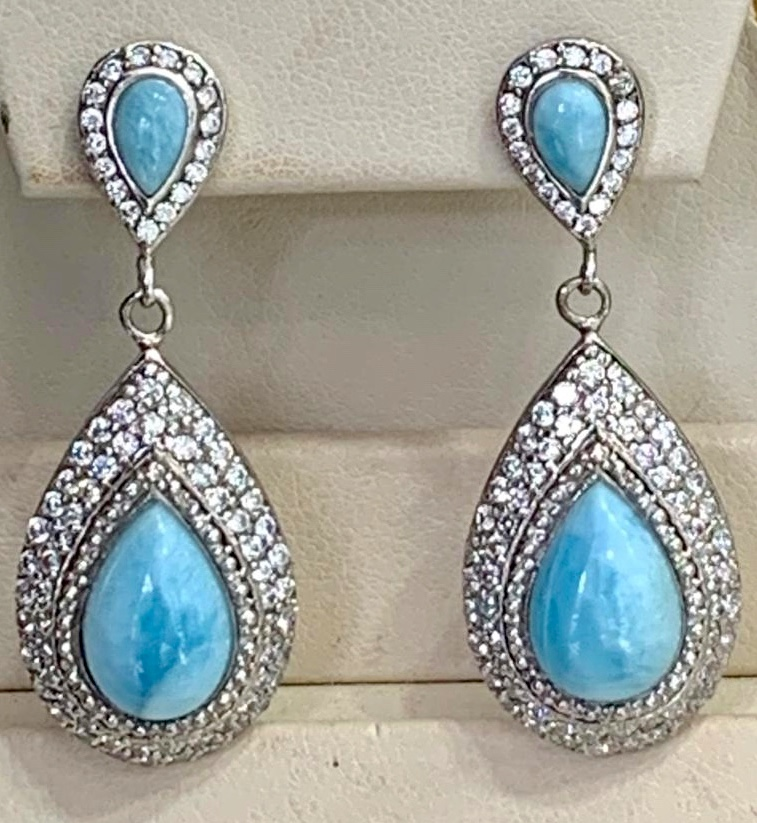 larimar earrings st thomas