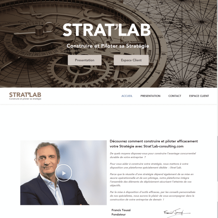 Site eLearning WordPress Stratlab