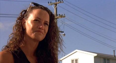 Beth (Rena Owen) smiles at her son Nig (Julian Arahanga)