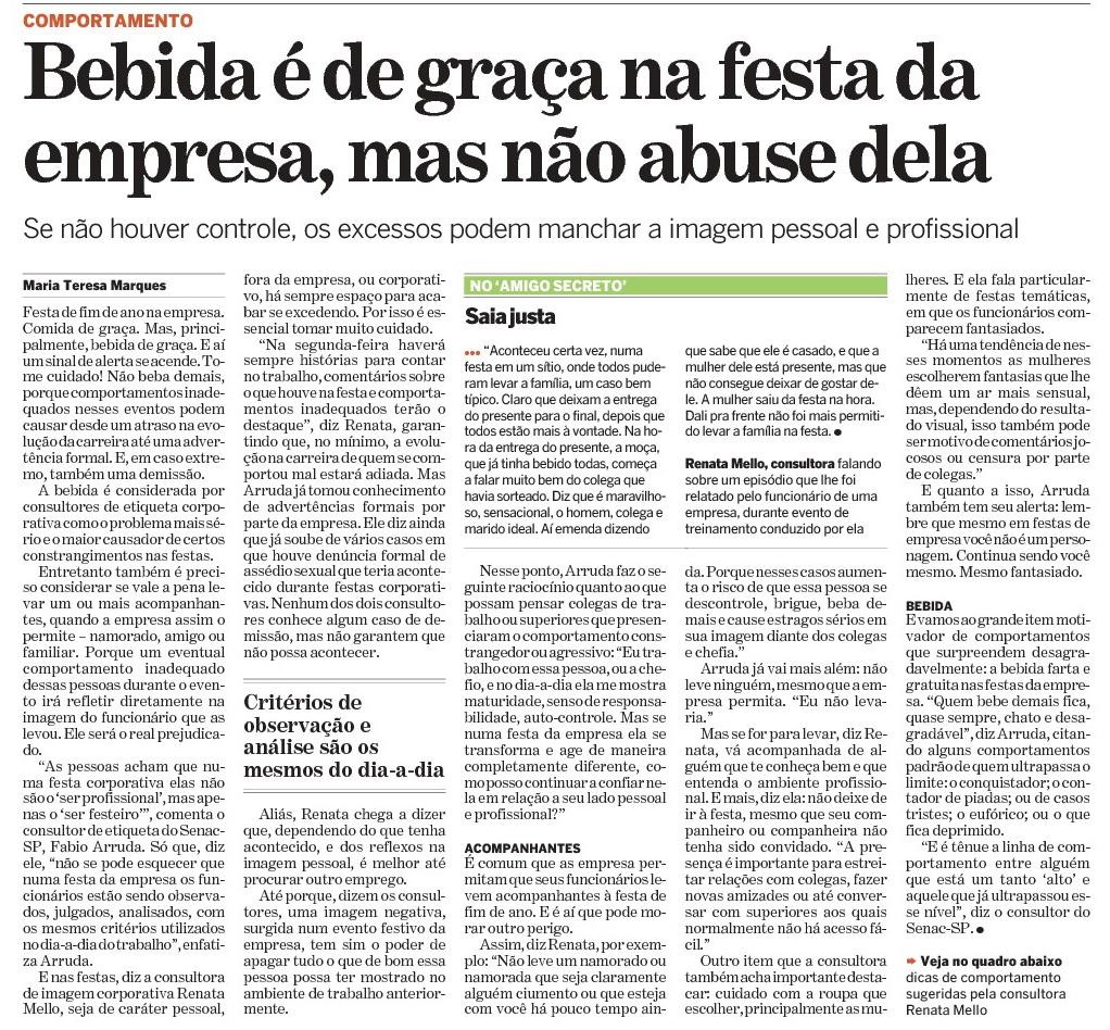 17/11/08 – Bebida é de graça na festa da empresa, mas não abuse