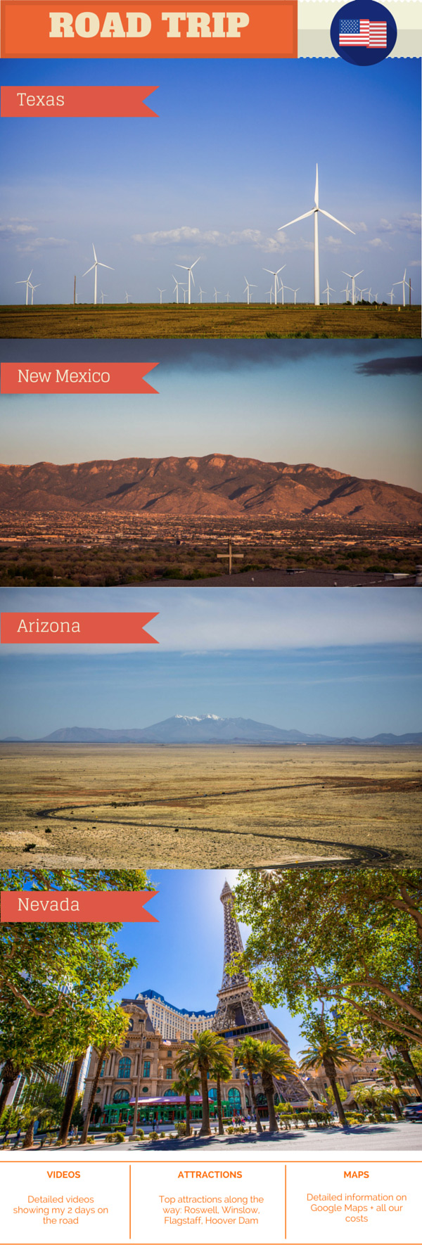 Road trip from Texas to Las Vegas - Day 1