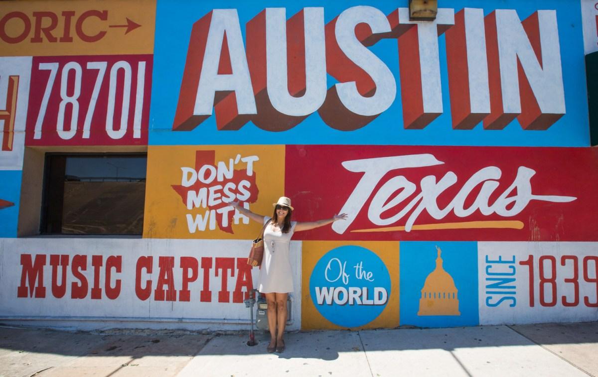 Murals and the Graffiti Park downtown Austin, Texas