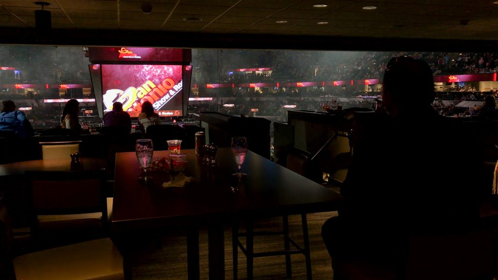 Terrace Restaurant no AT&T Center durante o Rodeio de San Antonio em San Antonio, no Texas