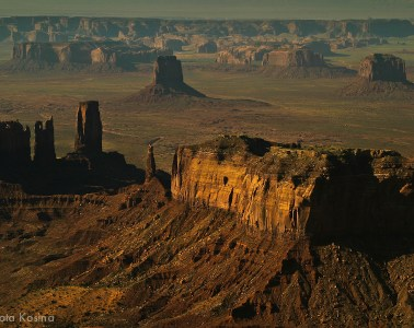 Arial shot of the Monument Valley, Utah, USA