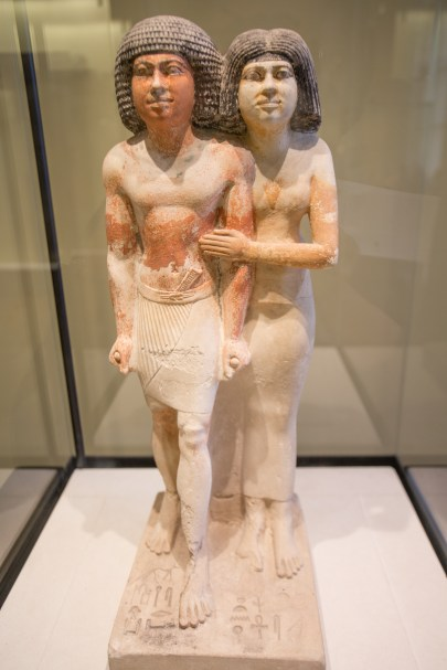 Statue of Raherka (Inspector of Scribes) and of His Wife Meresankh. 4th or 5th Dynasty.
