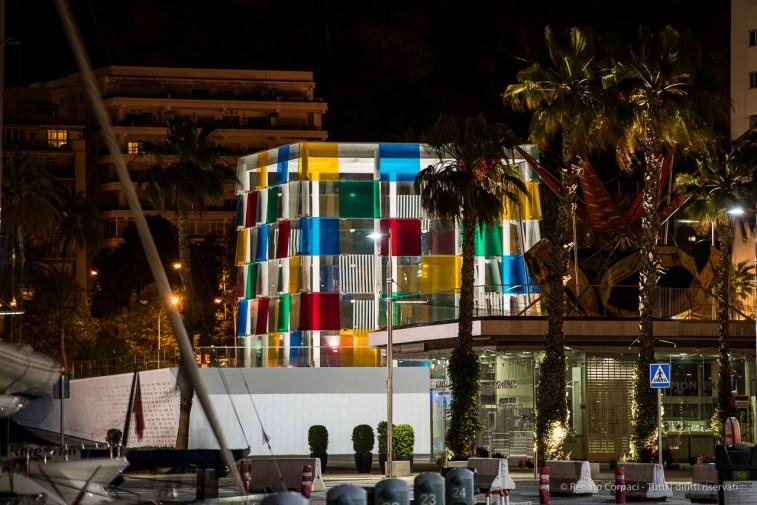 Centre Pompidou Malaga, 28 aprile 2015 - Nikon D810, 200mm (70-200.0mm ƒ/2.8) 2.5sec ƒ/3.2 ISO 64