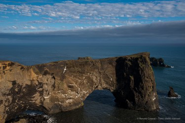 Dyrholaey is a naturally formed arch that gives its name to the cliff on the southernmost point of Iceland near Vik. Nikon D750, 38 mm (24-120.0 mm ƒ/4) 1/1600 sec ƒ/8 ISO 400