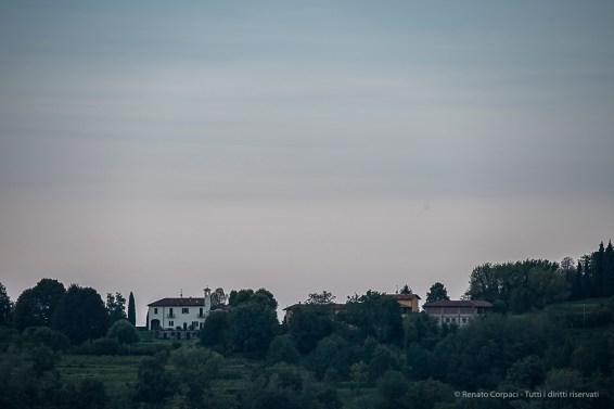 "07:29:37. San Bernardo church on the Montevecchia hill crest. Nikon D750, 400mm (80-400.0mm ƒ/4.5-5.6) 1/25"" ƒ/8 ISO 100"