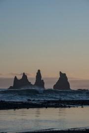 "The Troll Rocks at the tip of Reynisfjara, facing Vik. Nikon D750, 155 mm (80-400.0 mm ƒ/4.5-5.6) 1/160"" ƒ/11 ISO 100"